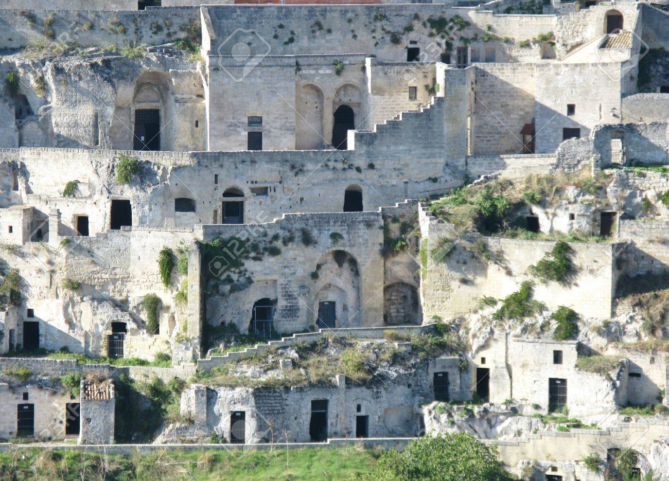 A view on the historic city Matera with the rupestrian churches ands houses in Basilicata in Italy Stock Photo - 16257974