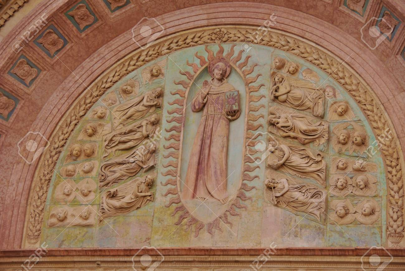 A detail of the Oratory of san Bernardino in Perugia in Tuscany in Italy Stock Photo - 17092917