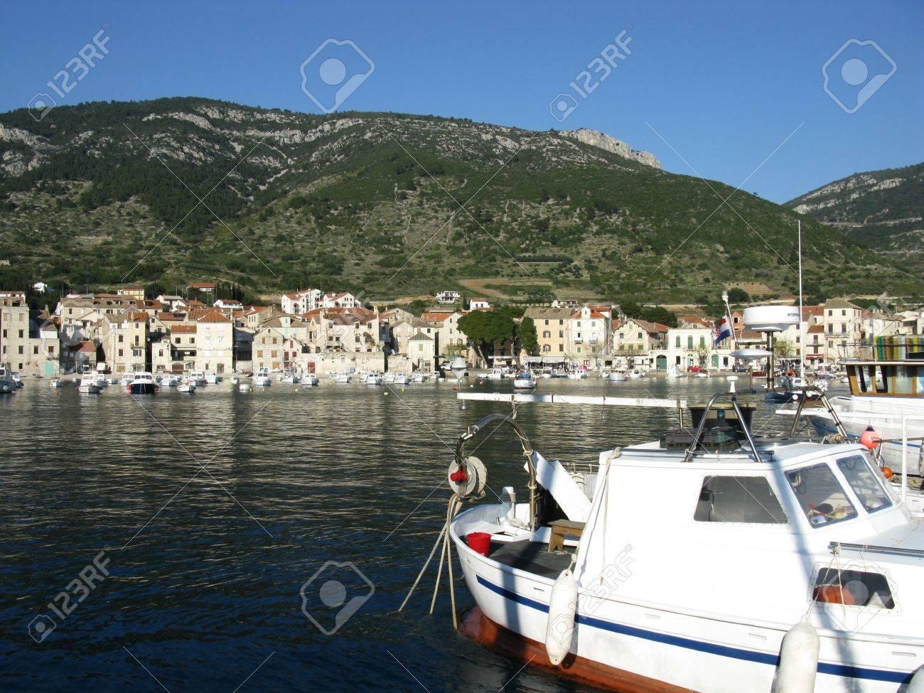Komiza a city on the island Vis in Croatia in the Adriatic sea Stock Photo - 17134855