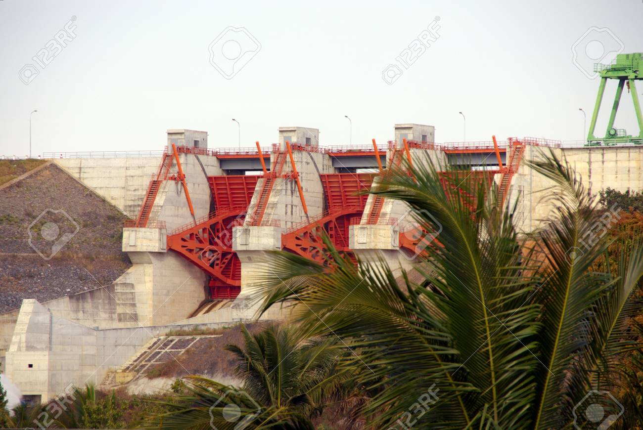 Waterworks for electricity in Vietnam Stock Photo - 17452505
