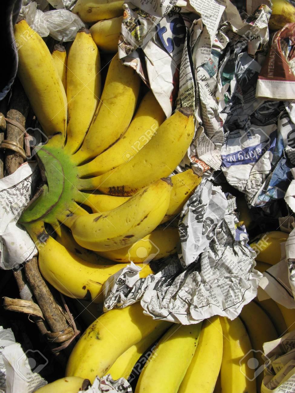 Sweet bananas on a market in Sri Lanka Stock Photo - 17698936