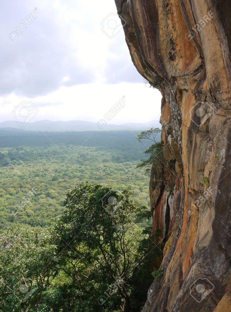 The lions rock  Sigiriya  an ancient rock fortress in Sri Lanka Stock Photo - 18230117