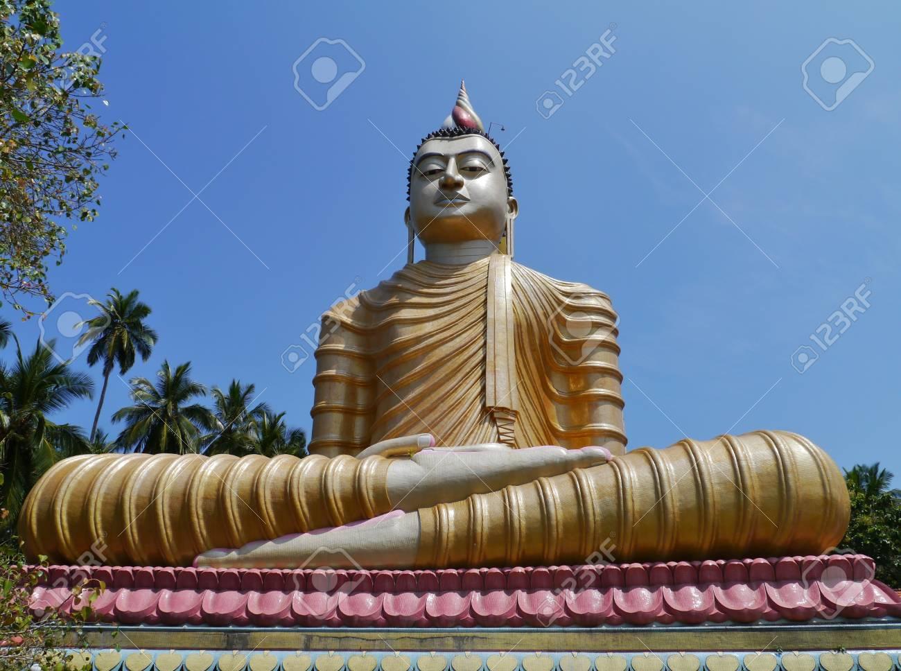 The huge statue of Buddha at wewurukannala Vihara temple in Sri Lanka Stock Photo - 18216373