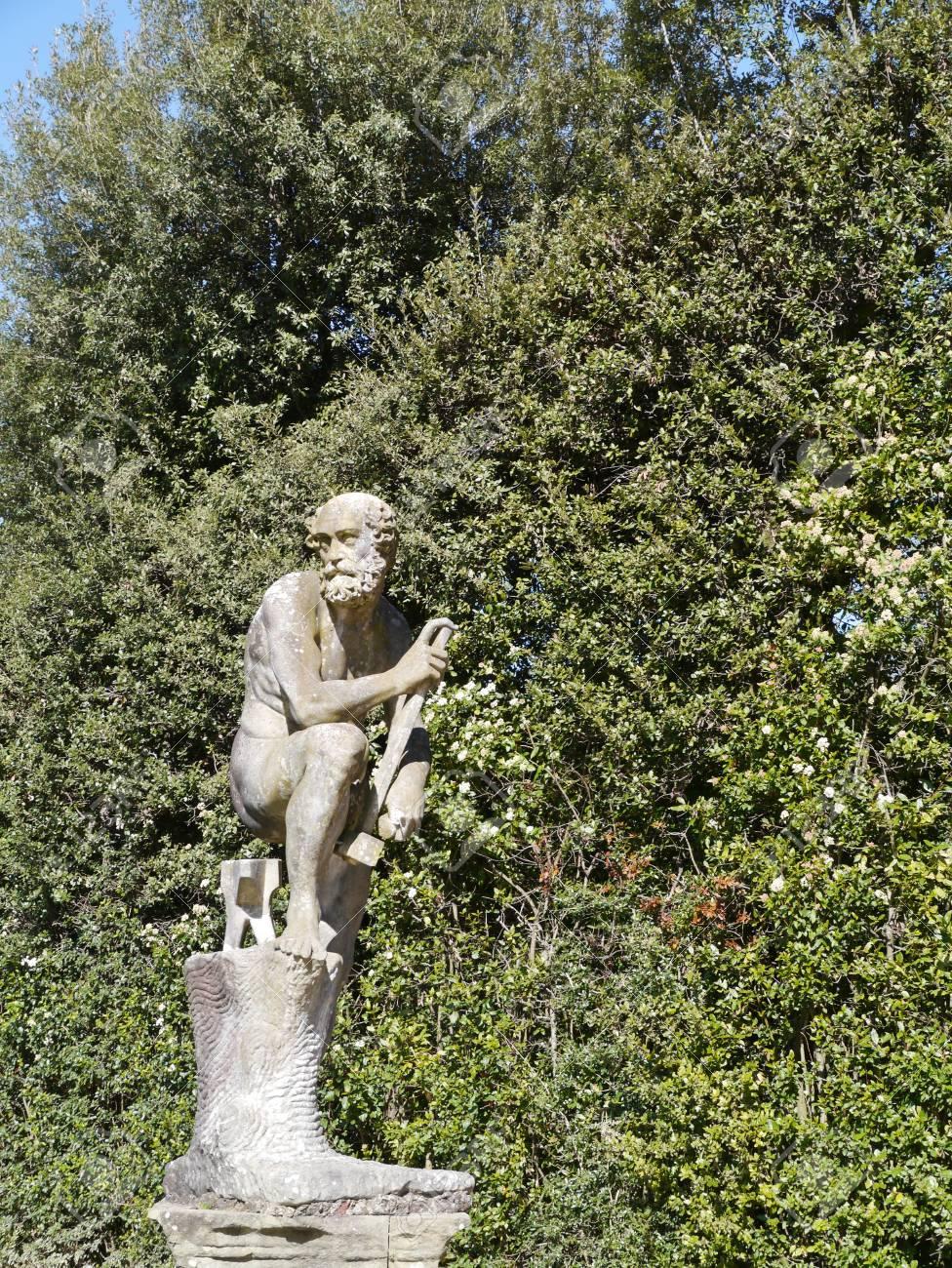 Sculpture in de boboli gardens in Florence in Italy Stock Photo - 19220772