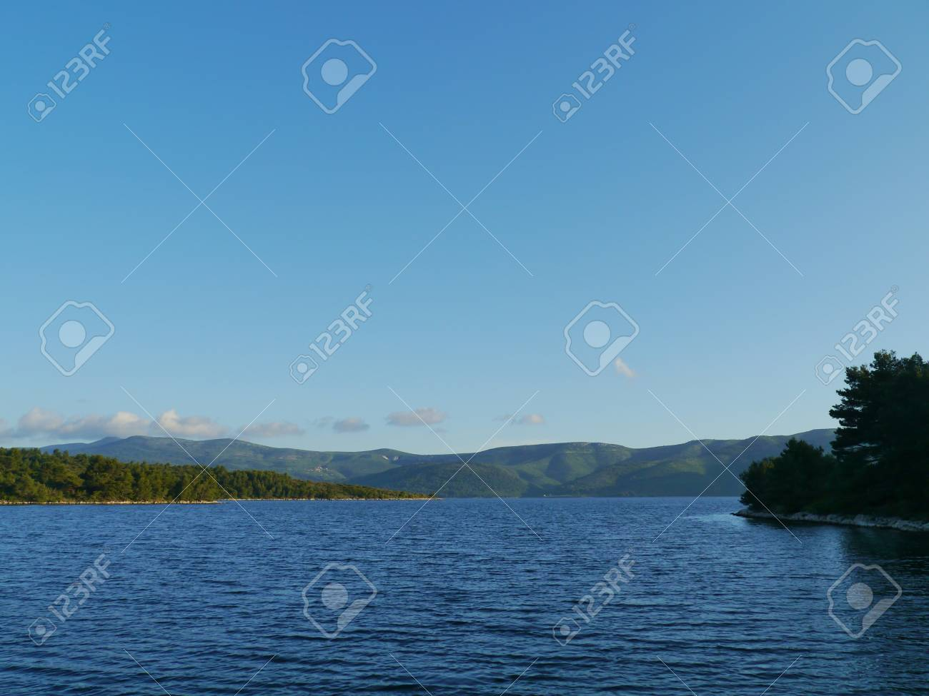 The bay of the Croatian village Polace at the island Mljet in the Adriatic sea of Croatia Stock Photo - 21933113