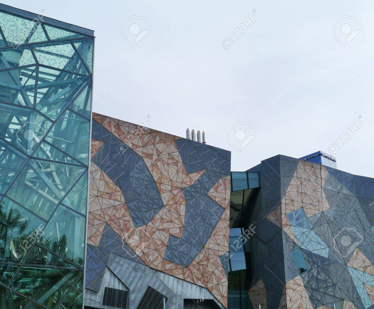 Modern Architecture Melbourne modern architecture on federation square in melbourne in australia