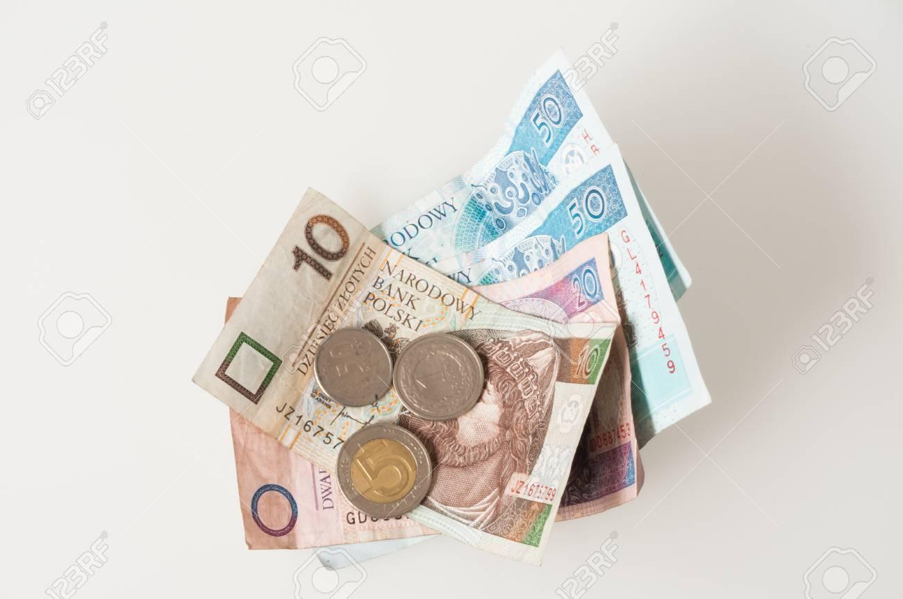 Polnisches Geld Münzen Und Banknoten Lizenzfreie Fotos Bilder Und