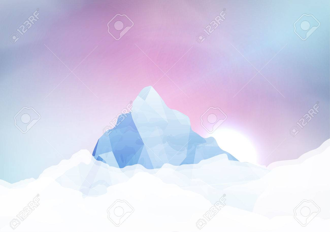Snowy mountains - Vector Illustration Stock Vector - 28658896