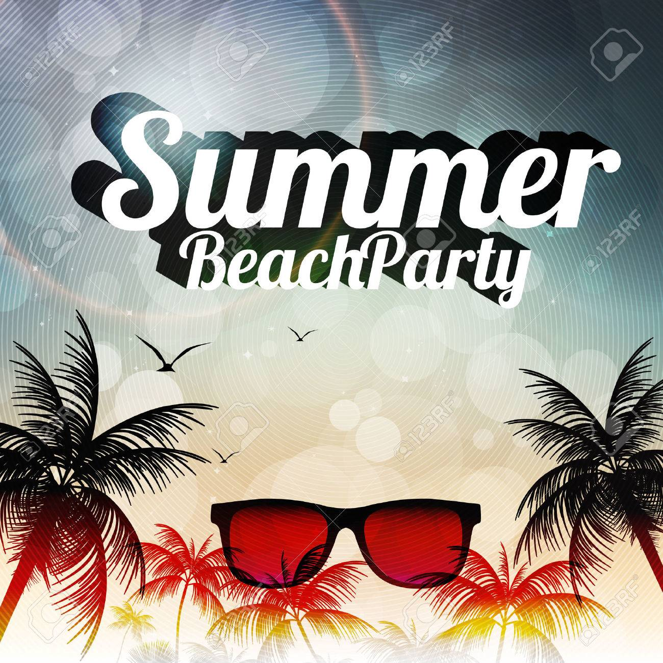 holiday flyer template stock illustrations cliparts and holiday flyer template summer beach party flyer design palmtrees vector illustration illustration