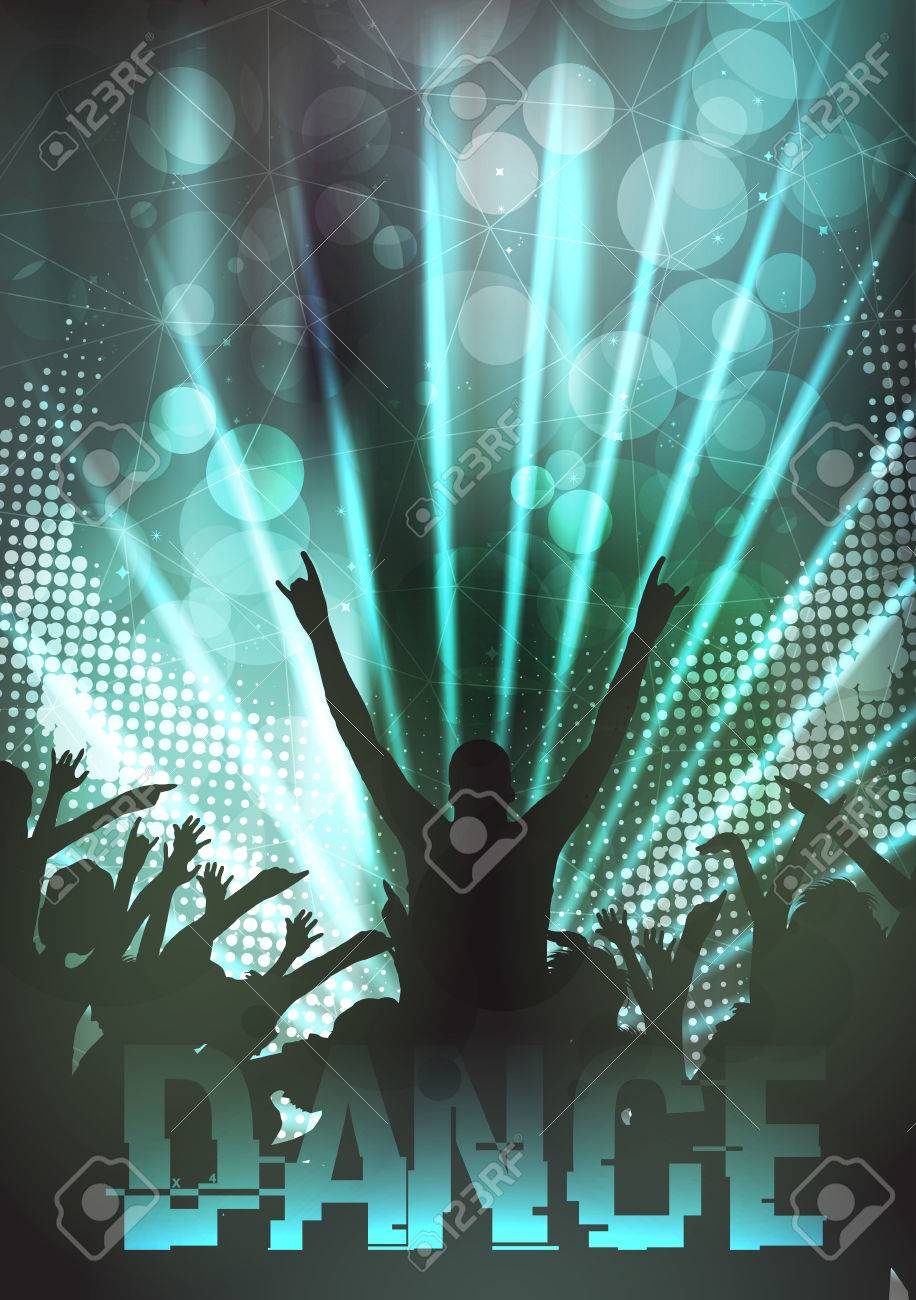 Dance Party Poster Background Template - Vector Illustration - 36063410