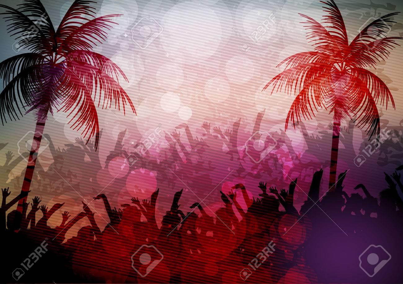 Summer Beach Party Poster - Vector Illustration - 43219137