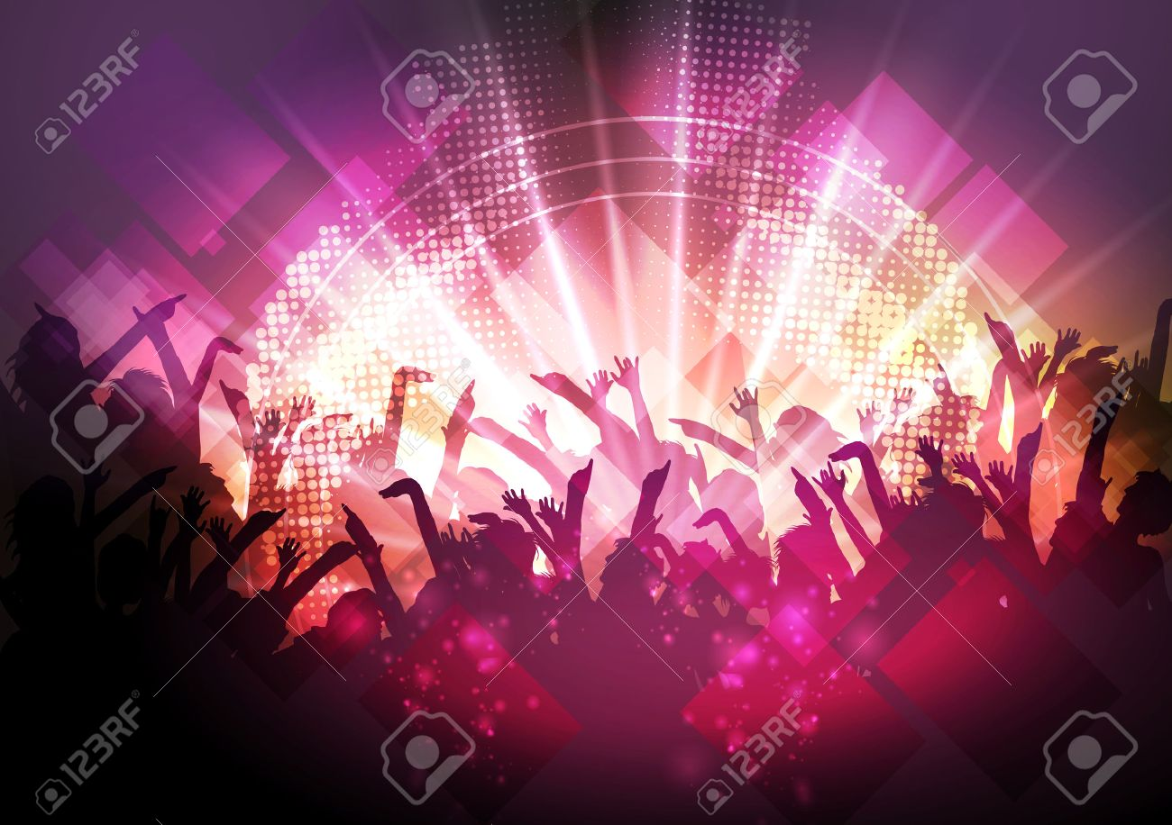 Disco Party Background - Vector Illustration - 43219138