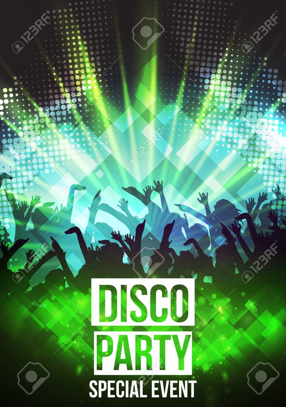 Disco Party Background - Vector Illustration - 43661146