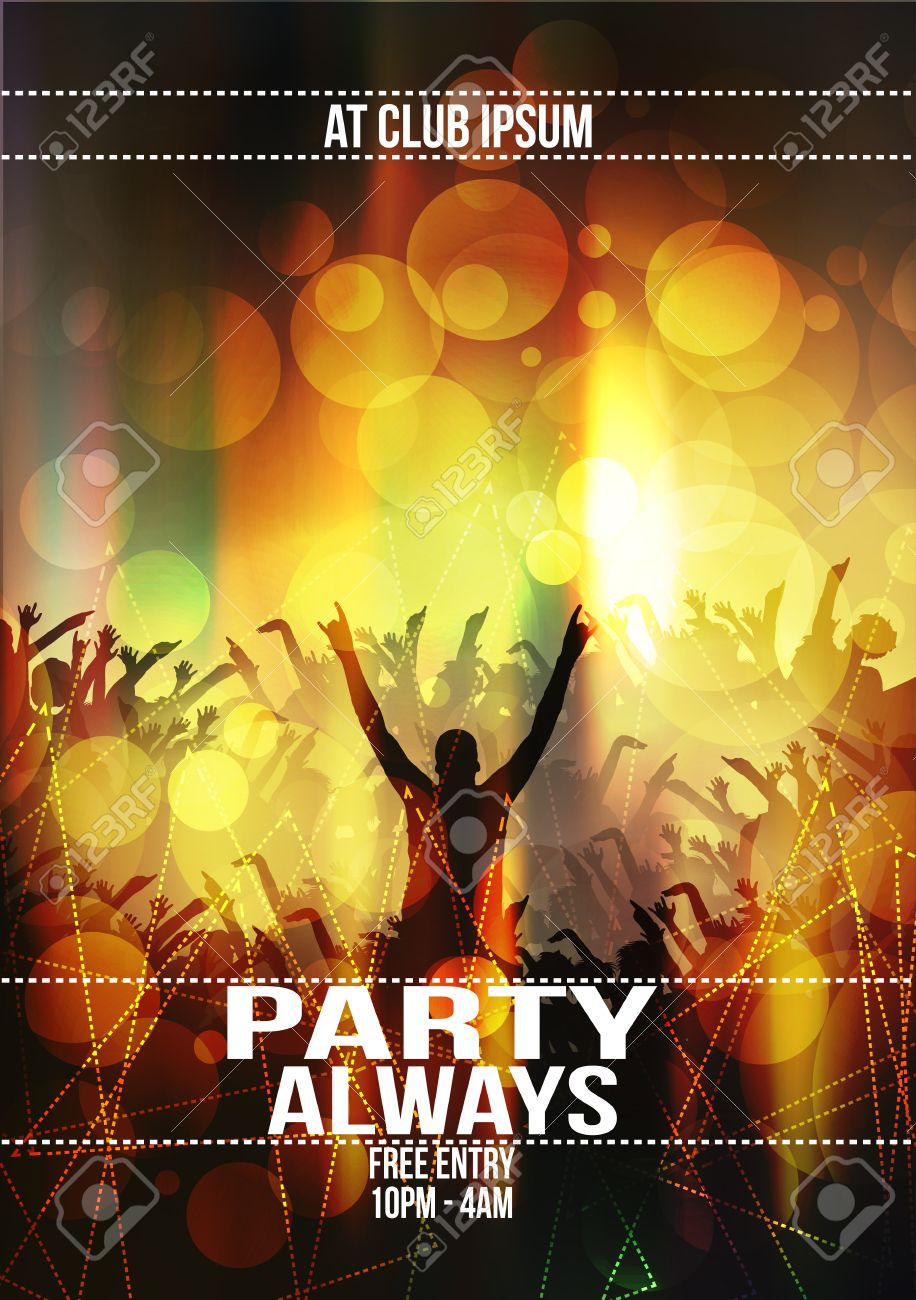 Party Flyer Background - Vector Illustration - 51842808