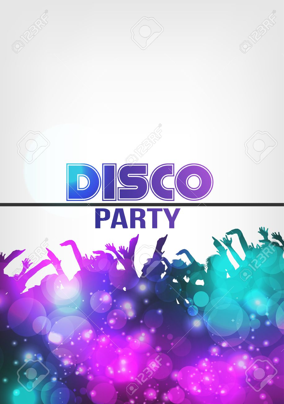 Disco Night Party Poster Background Template