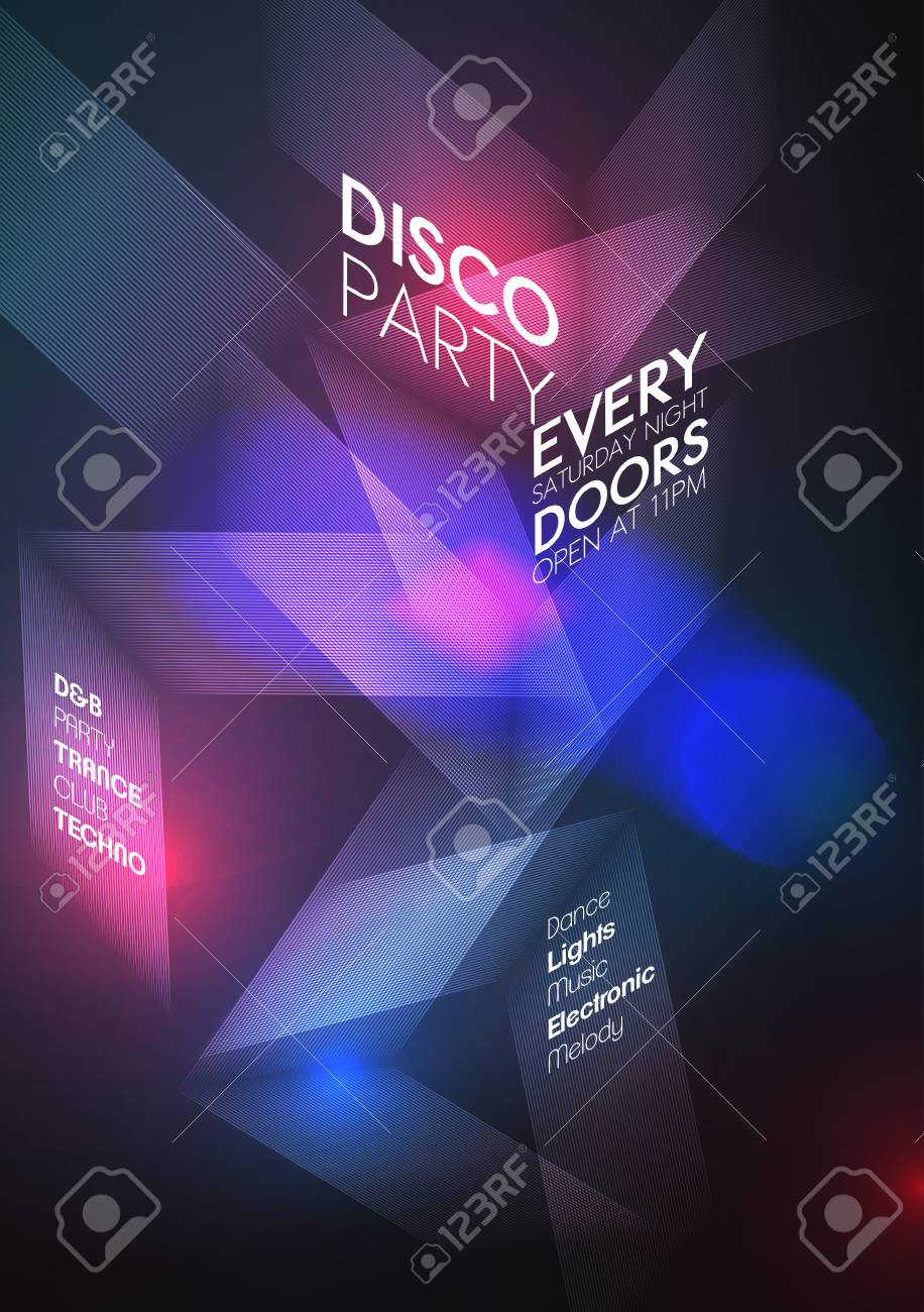 Abstract Party Poster Template Vector Illustration Royalty Free