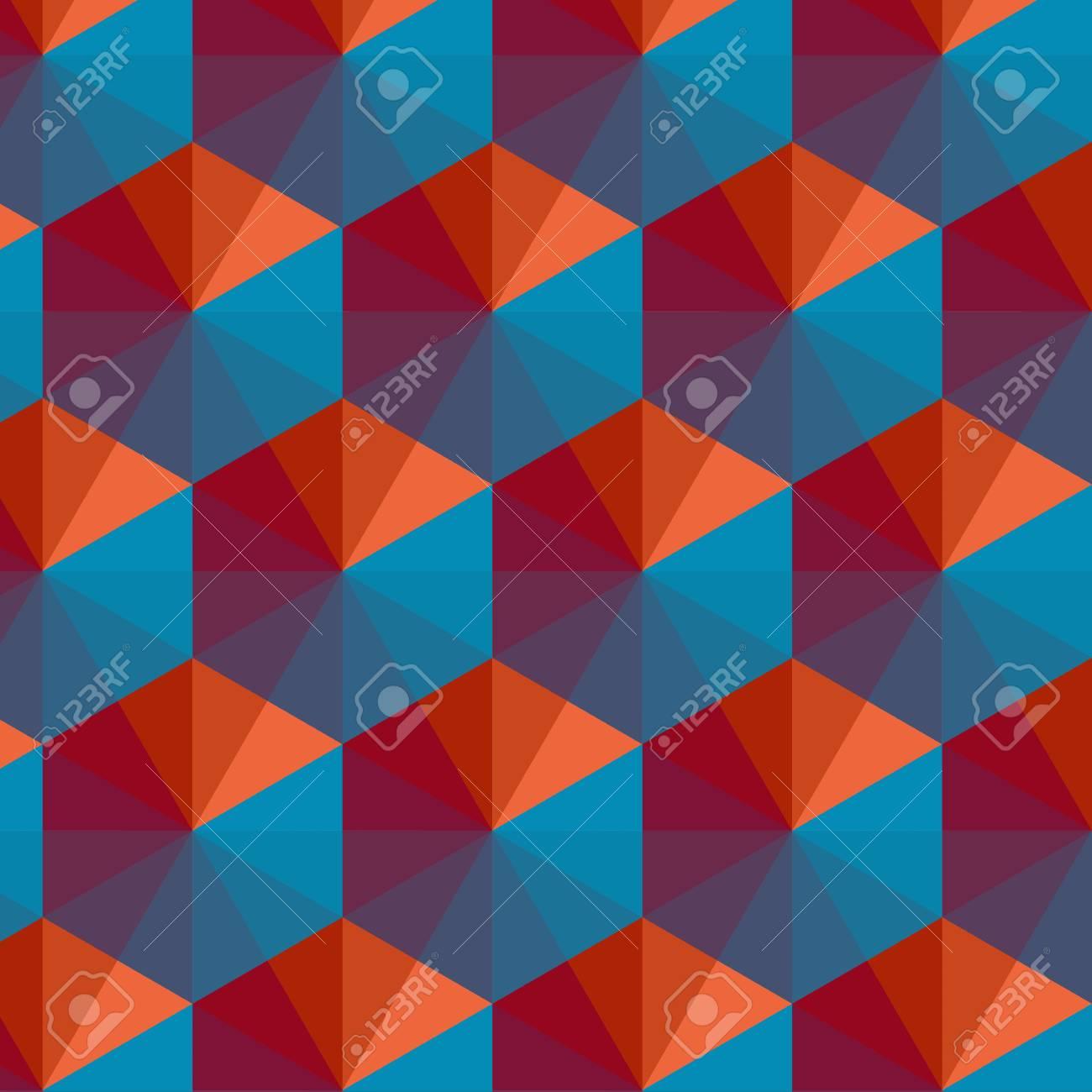 Geometric Triangle Pattern Background - Vector Illustration - 92356407