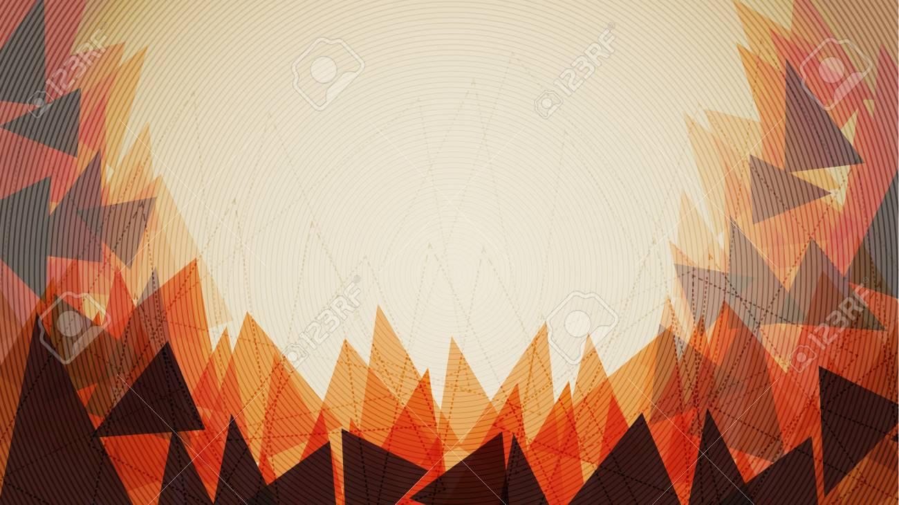 Orange Triangle Background Template - Vector Illustration - 95741735