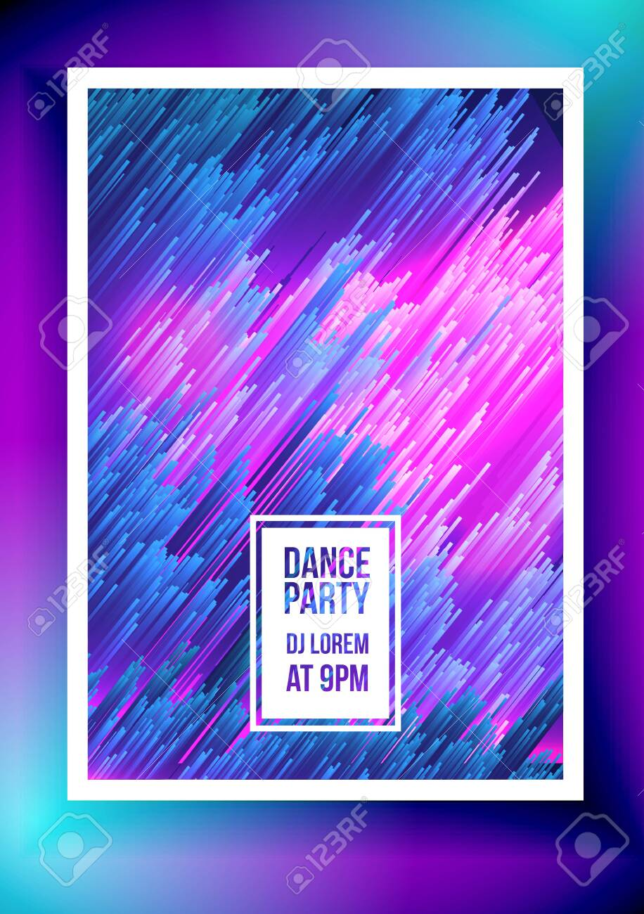 Abstract Abstract Fiber Optics Background Poster, Flyer Template - Vector Illustration - 133496092