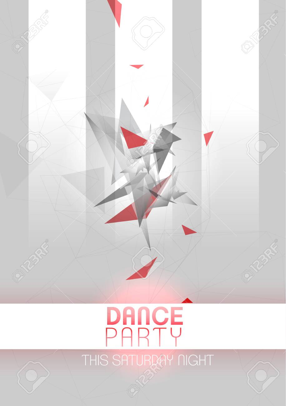 Modern Geometric Party Poster Background - Vector Illustration - 133739111