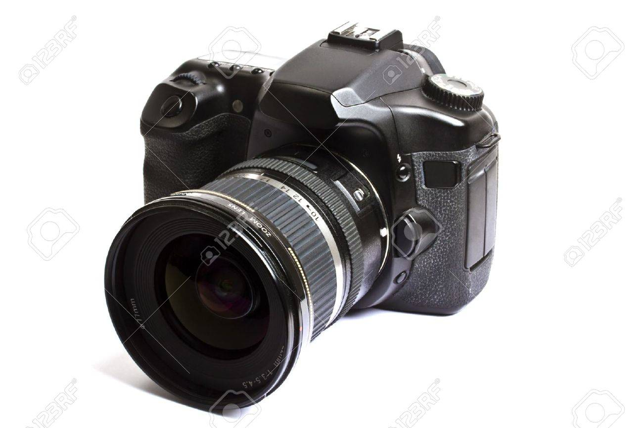 Camera White Dslr Cameras dslr camera isolated on white background stock photo picture and 7911898