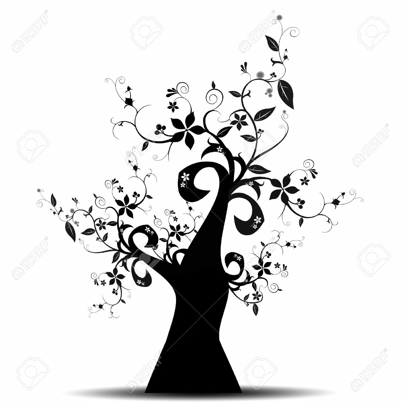 Beautiful abstract art tree isolated on white background Stock Vector - 10182466