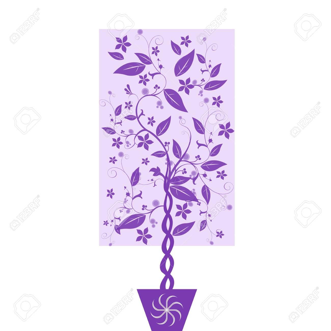 Beautiful art tree isolated on white backgroud Stock Vector - 10337318