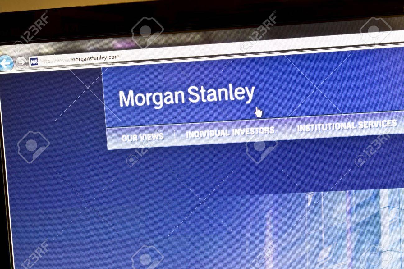 Ostersund, Sweden - August 21, 2011: Close up of Morgan Stanleys