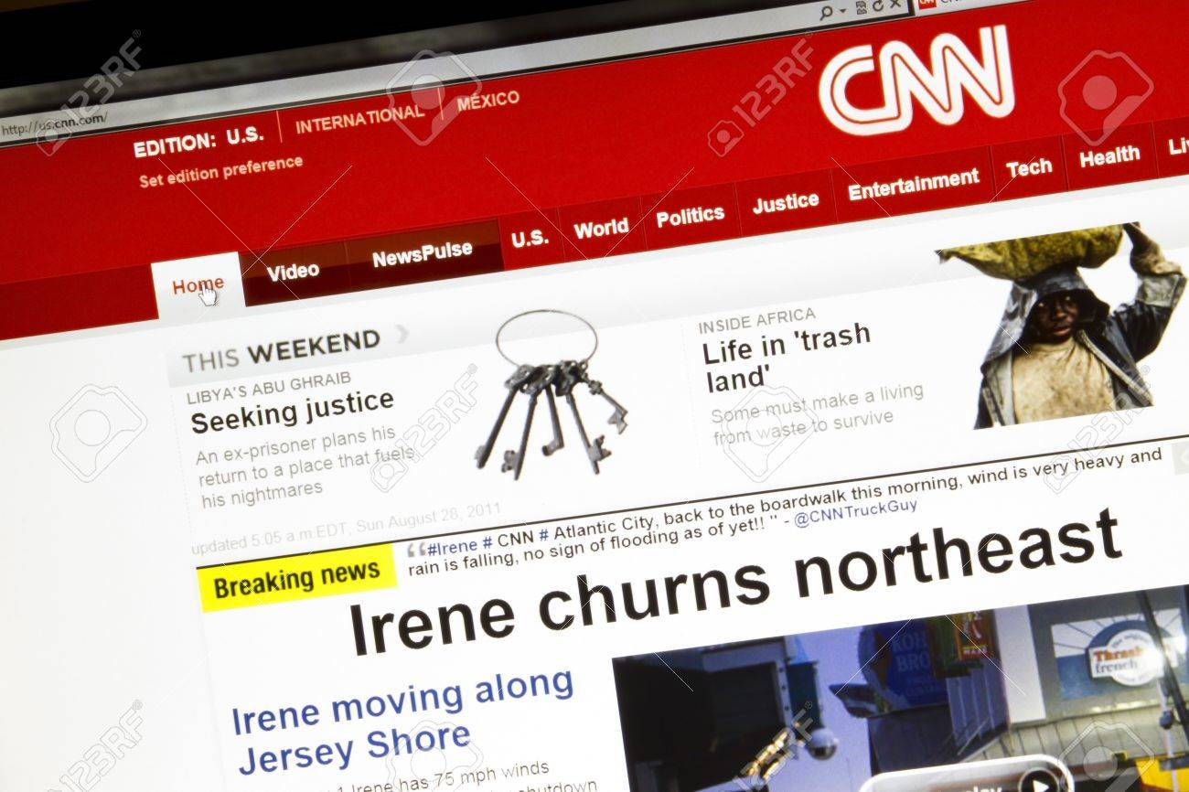 Ostersund, Sweden - August 28, 2011: Close up of CNN mainpage on a computer screen Stock Photo - 10484080