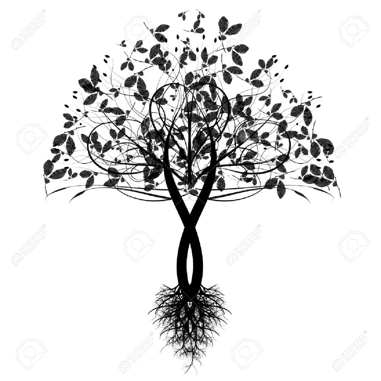 Beautiful art tree isolated on white background Stock Vector - 10464881