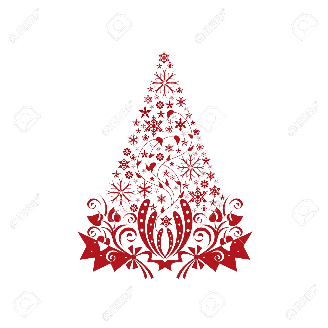 Beautiful christmas decoration isolated on white background Stock Vector - 10464932