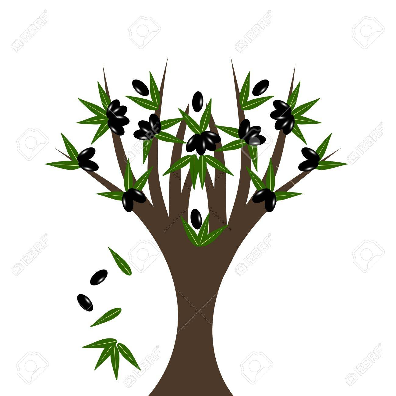 Abstract olive tree isolated on white background Stock Vector - 10554597