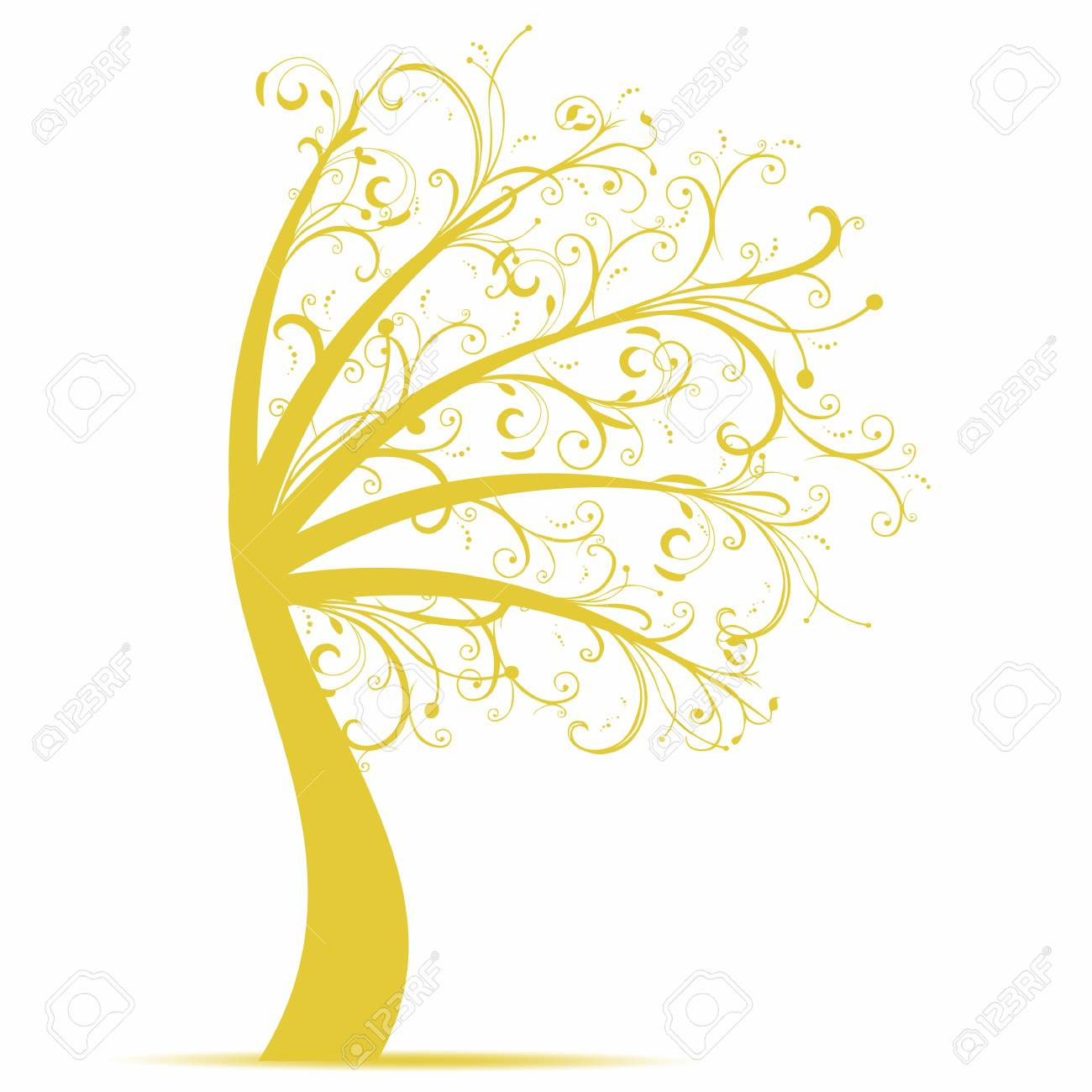 Beautiful art tree isolated on white background Stock Vector - 10598579