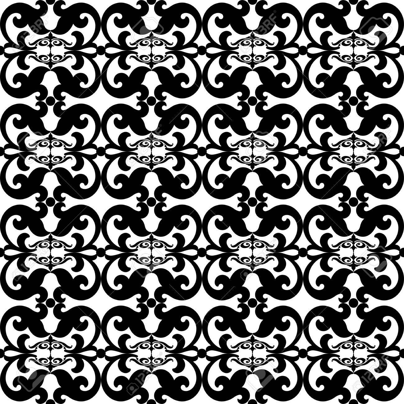 Beautiful and fashion seamless floral pattern background Stock Vector - 11028495