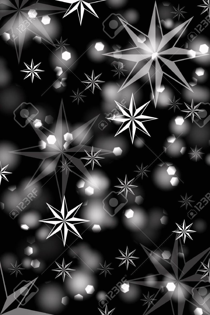 abstrack background of beautiful lights and stars on black royalty