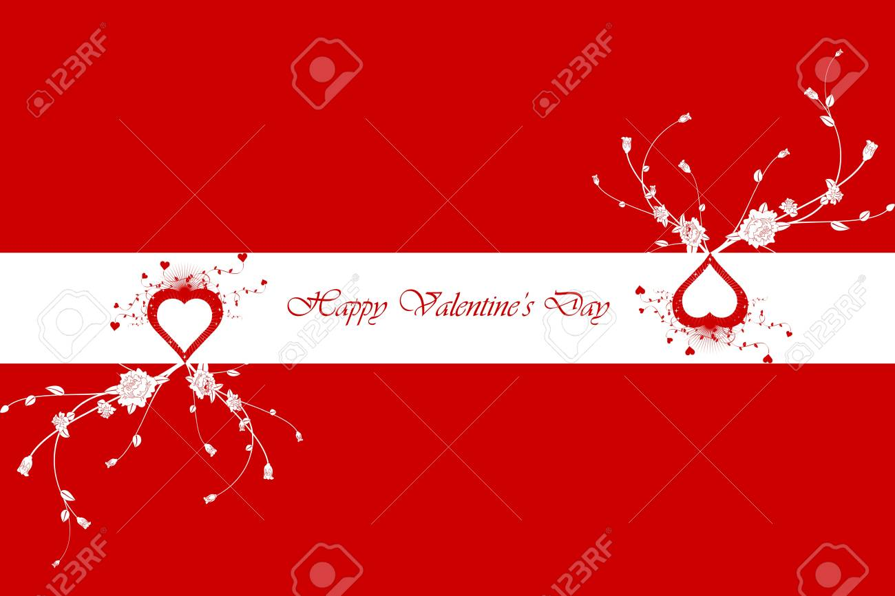 Happy Valentine's Day Greeting Card Stock Vector - 11863183