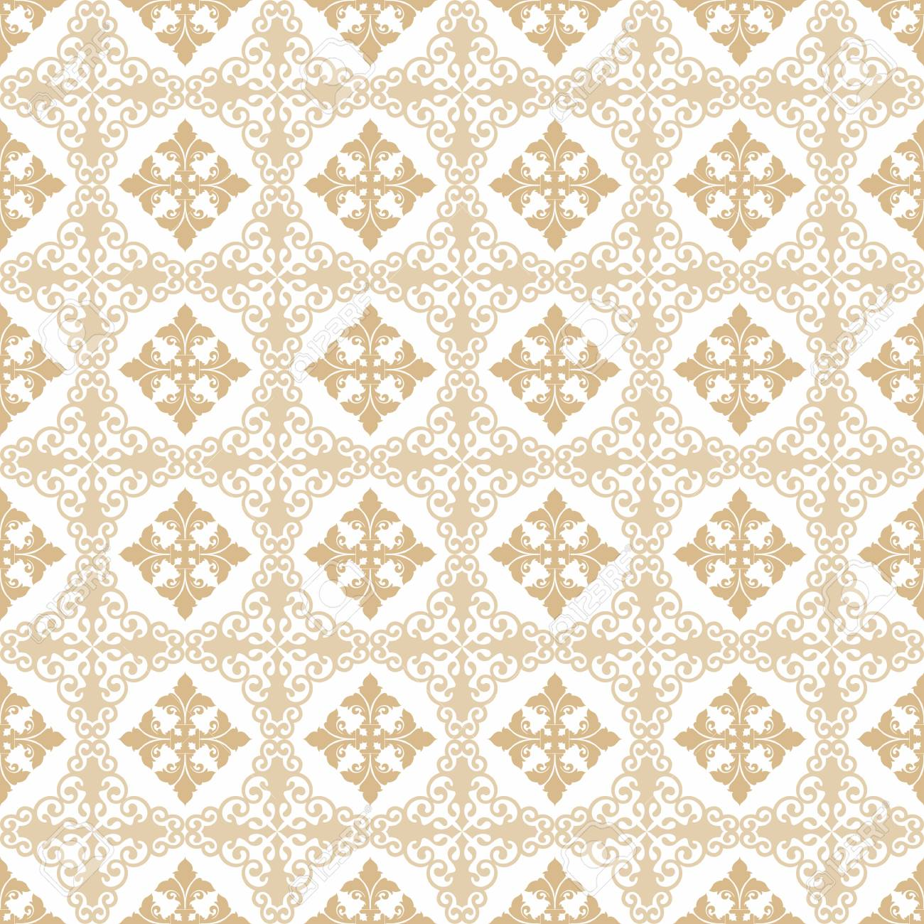 Seamless pattern of hearts and floral Stock Vector - 11991387