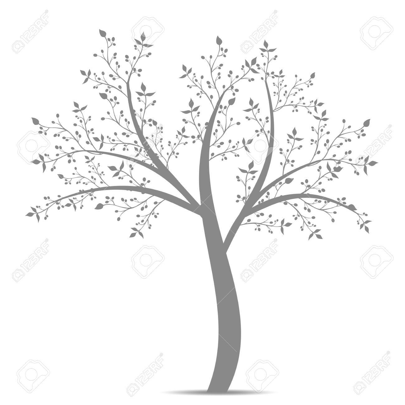 Olive tree isolated on white background Stock Vector - 12490038