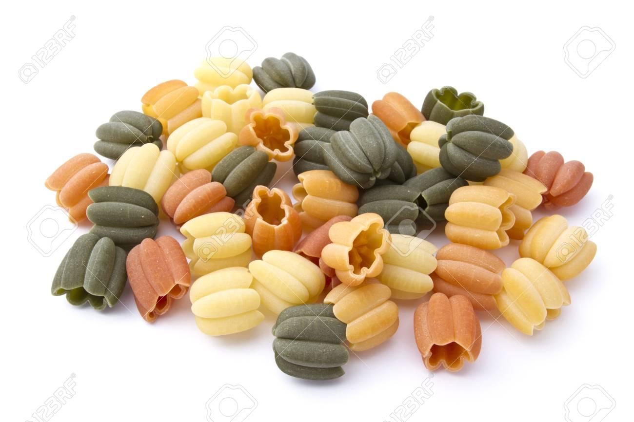 Colorful pasta closeup on white background Stock Photo - 13146309