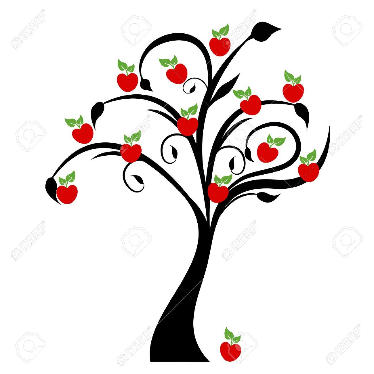 Beautiful apple tree isolated on white background - 13220167