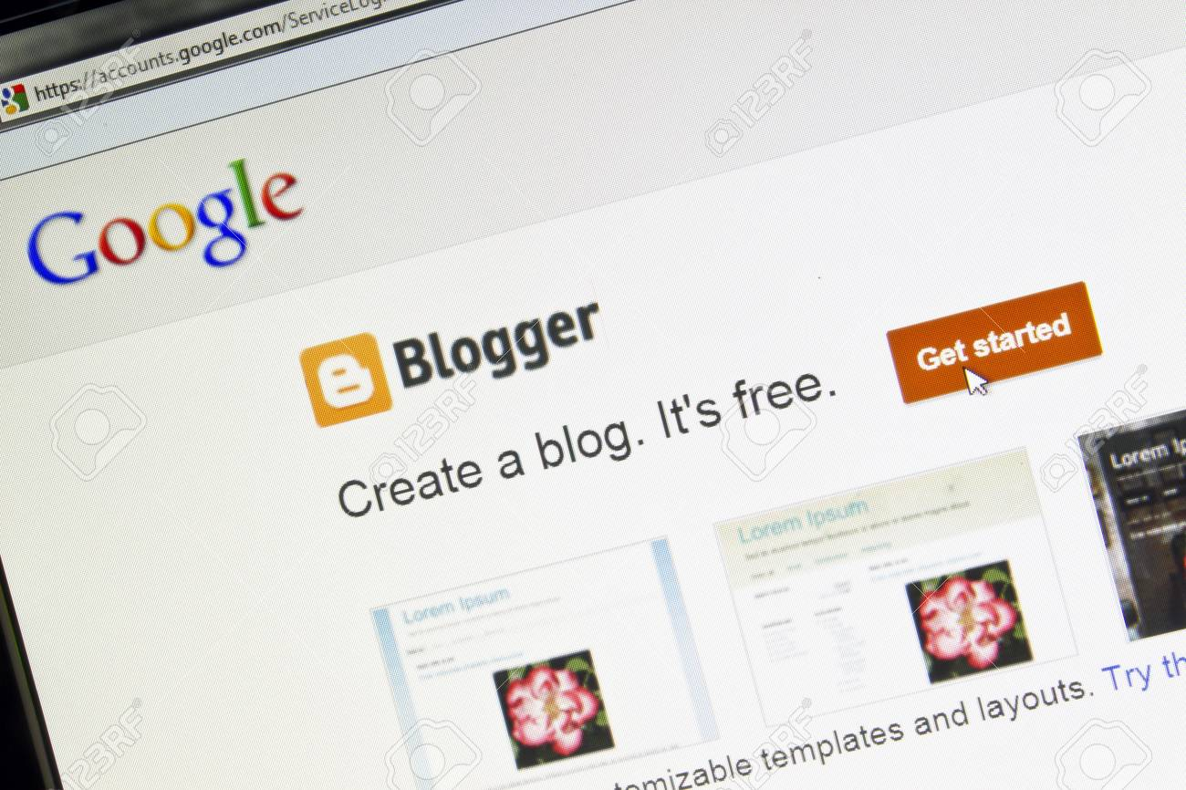 Blogger website displayed on a computer screen Stock Photo - 13460509