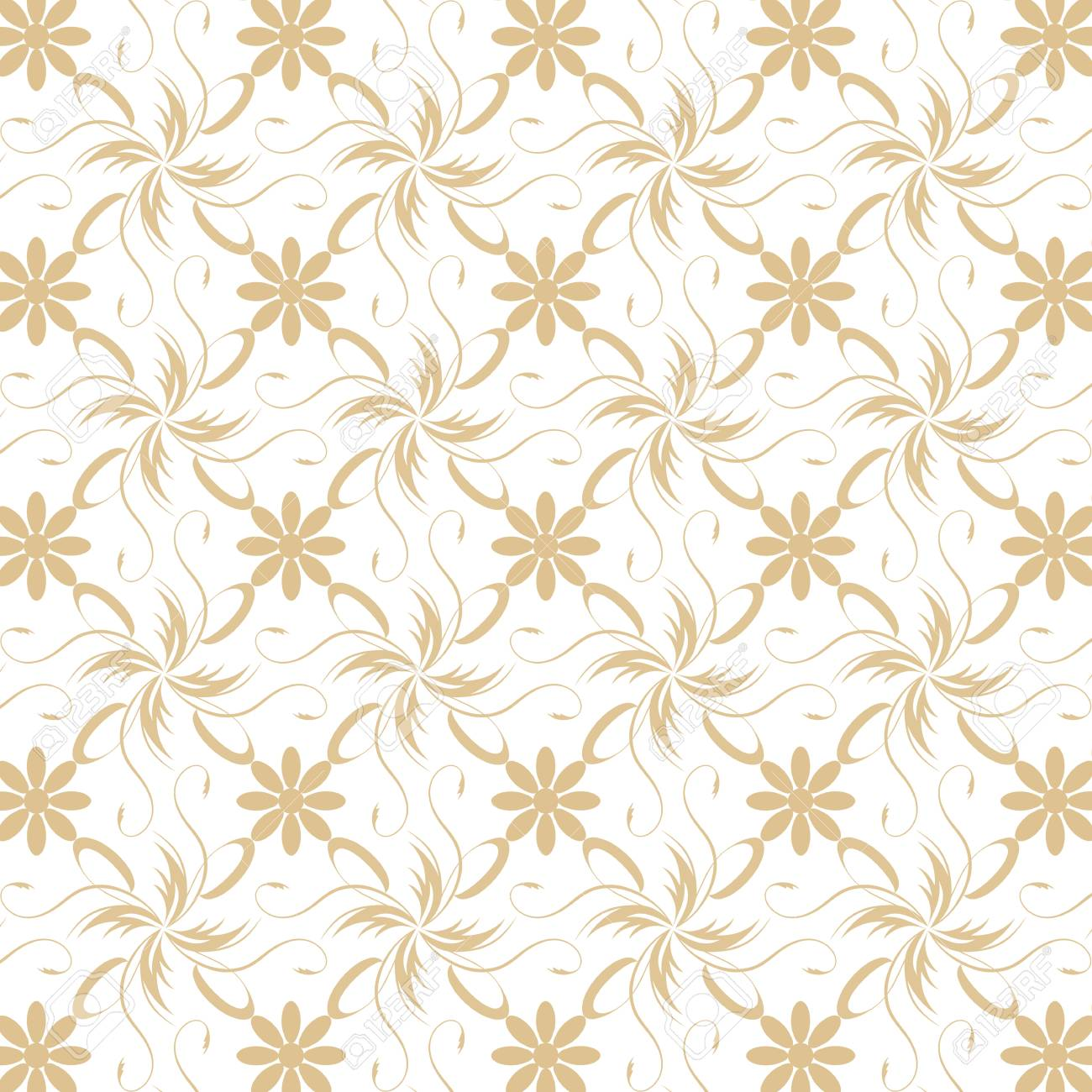 Beautiful background of seamless floral pattern Stock Vector - 15439154