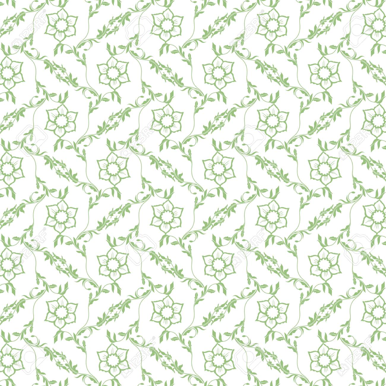 Beautiful background of seamless floral pattern Stock Vector - 15633658