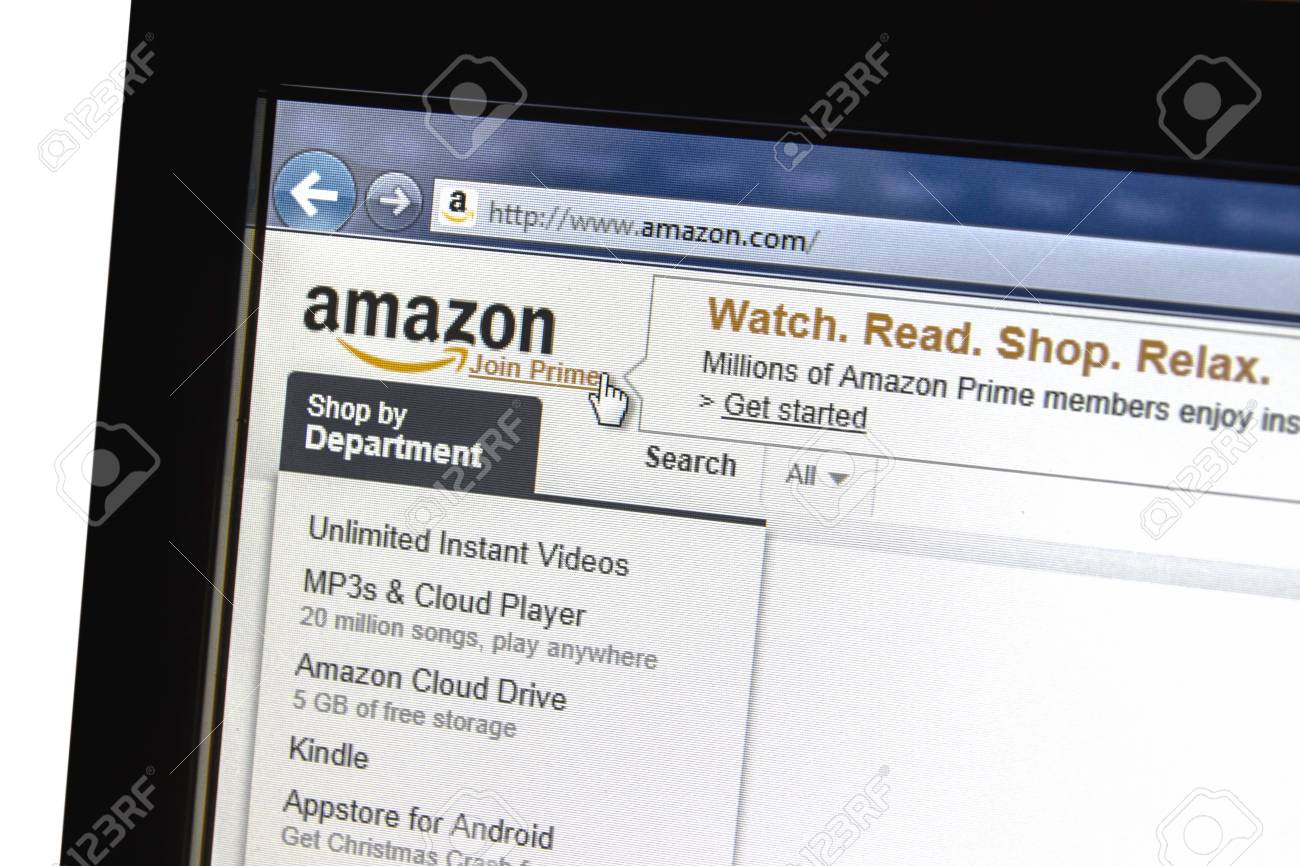 amazon website displayed on a computer screen Stock Photo - 16979343