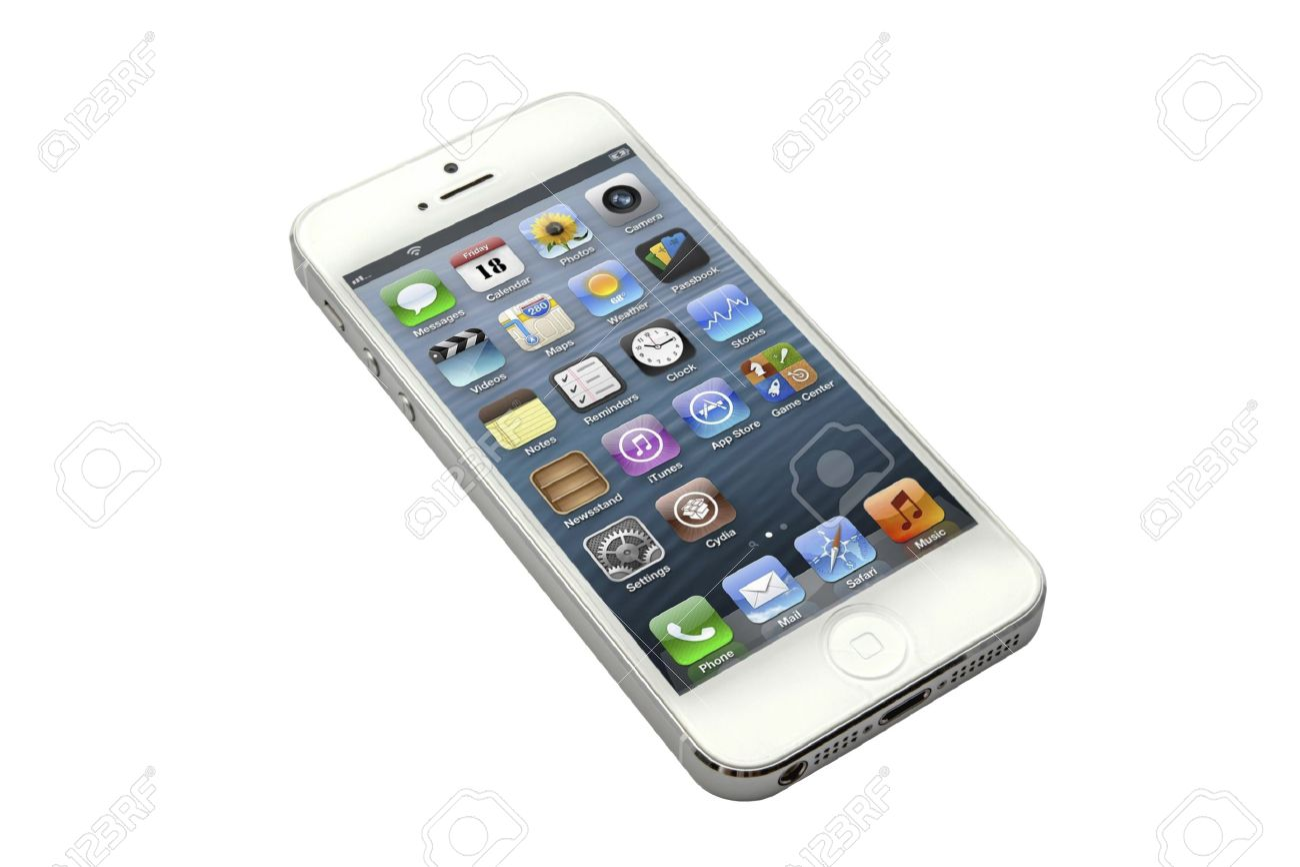 Iphone 5 Isole Sur Fond Blanc Banque D Images Et Photos Libres De