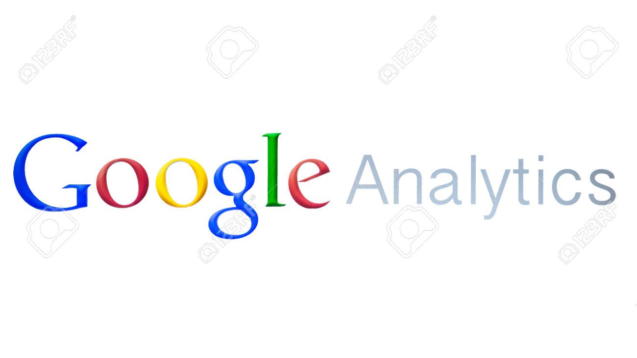 Google Analytics closeup on white background Stock Photo - 23354905