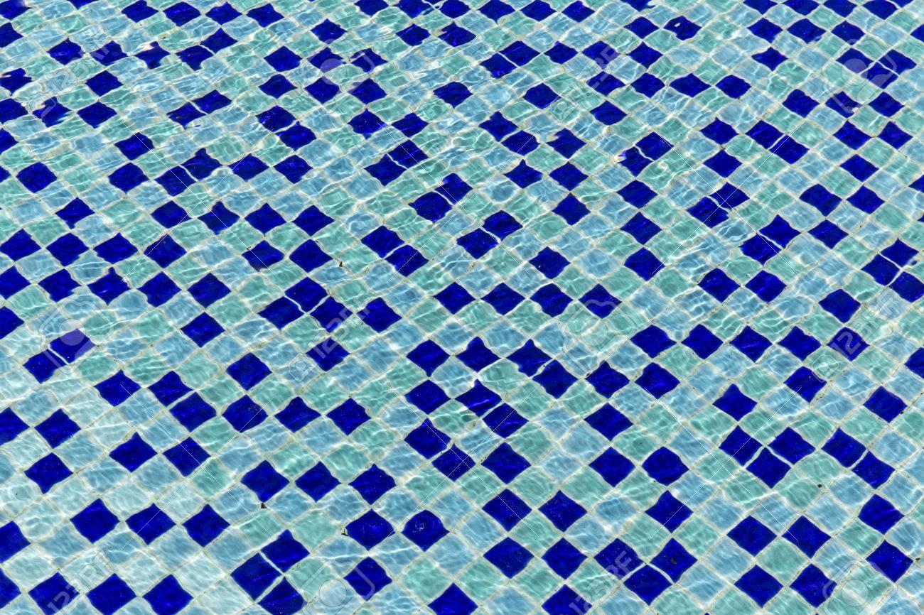 Blue Ceramic Tile Mosaic In Swimming Pool Seamless Texture Stock ...