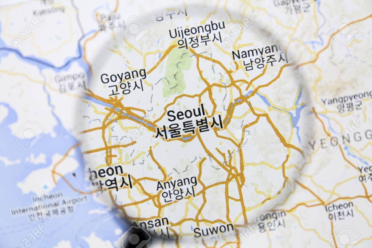 Seoul On Google Maps Under A Magnifying Glass Seoul Is The
