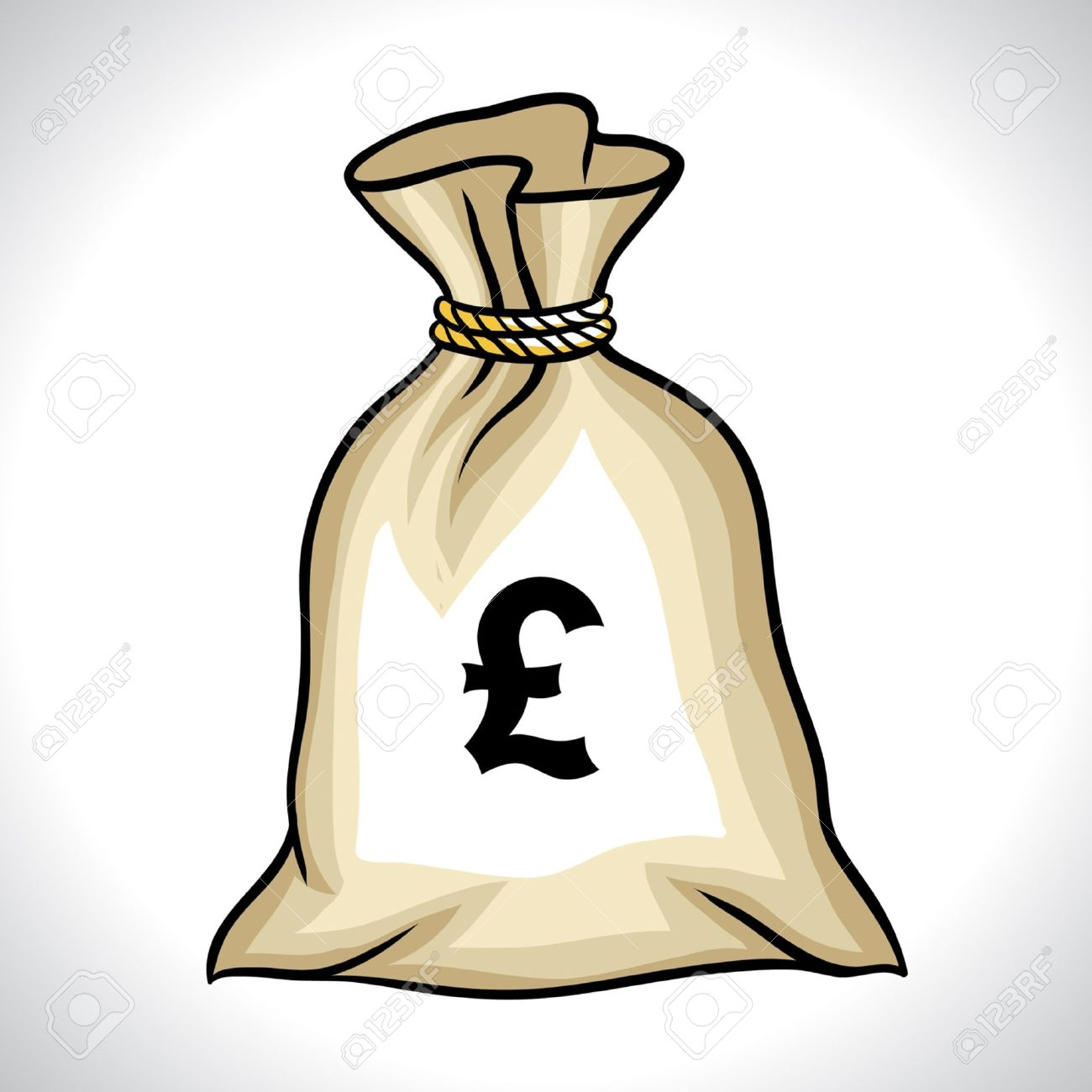 Money bag with pound sign vector illustration royalty free money bag with pound sign vector illustration stock vector 13026413 buycottarizona Images