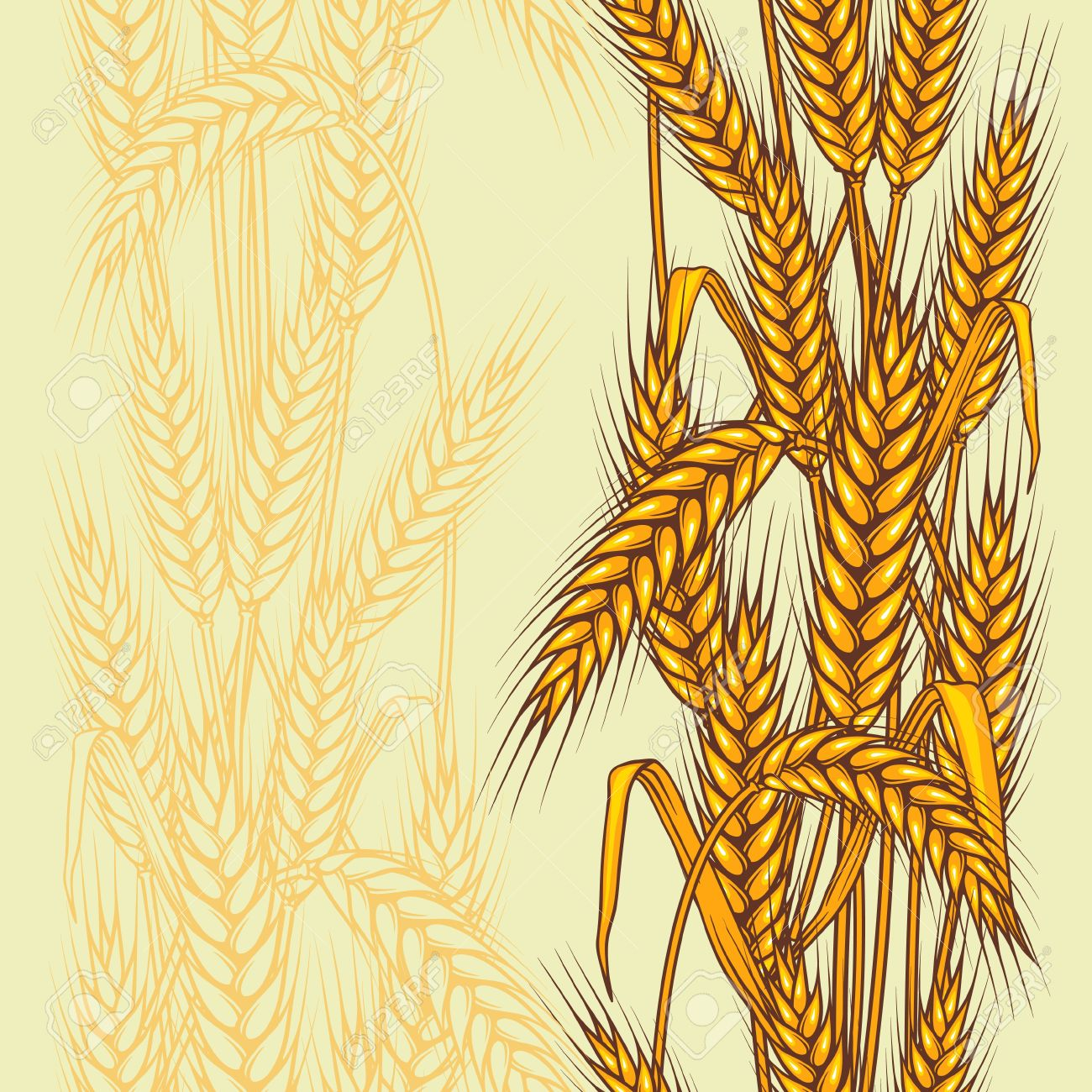 Abstract textured wheat field  Seamless pattern  Vector Stock Vector - 13288487